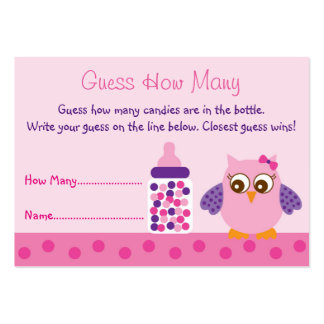 Baby Shower Guessing Game Business Cards and Business Card