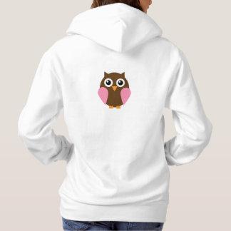 Pink Owl Hoodie