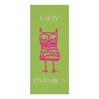 Pink Owl Invitation