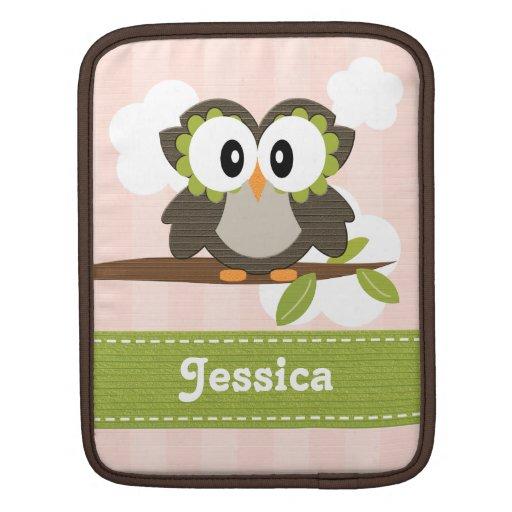 Pink Owl iPad Sleeve for iPad 2 and 1