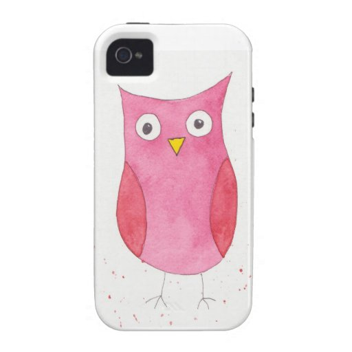 Pink Owl iPhone 4 Cover