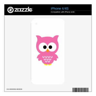 Pink Owl iPhone 4S Decals