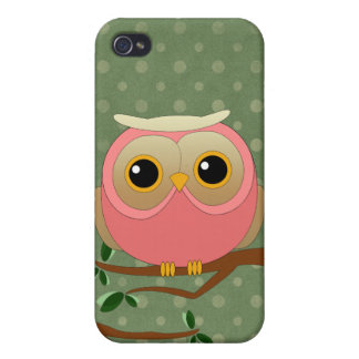 Pink Owl iPhone 4/4S Cover