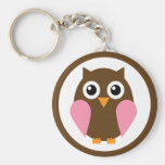 Pink Owl Key Chains