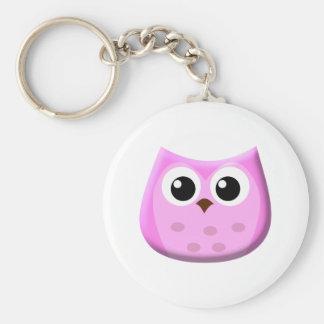 Pink Owl Keychains