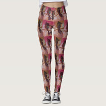 pink owl leggings