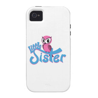 Pink Owl Little Sister Case-Mate iPhone 4 Covers