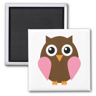 Pink Owl Magnets
