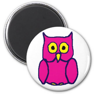 Pink Owl Magnet