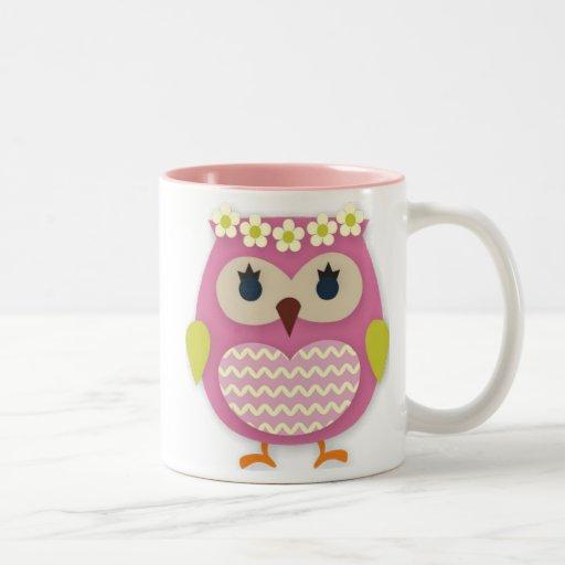 Pink Owl Mug