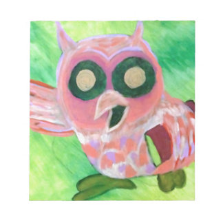 Pink Owl Note Pad