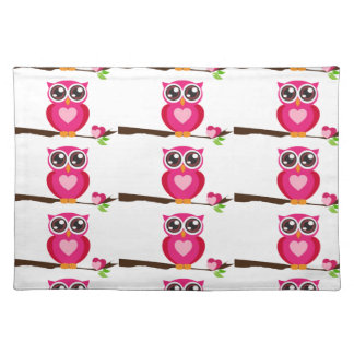 Pink Owl on Limb Placemat