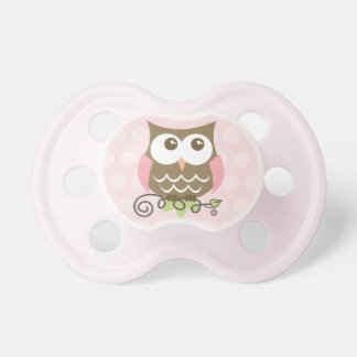 Pink Owl Pacifier