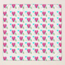 Pink Owl Pattern Scarfs Scarf