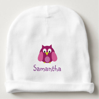 Pink Owl Personalized Hat