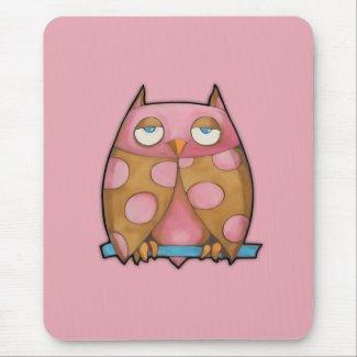 Pink Owl pink Mousepad mousepad