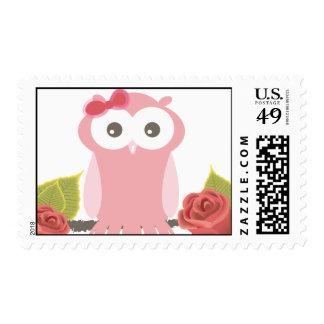 Pink Owl Postage