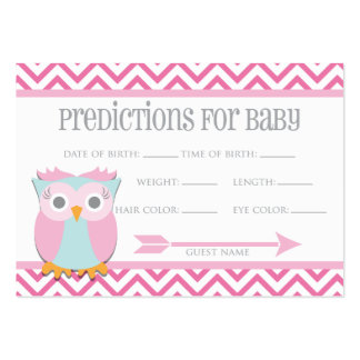 Pink Owl Predictions Card Large Business Cards (Pack Of 100)