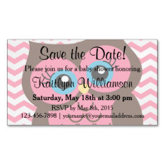 Pink Owl Save The Date Baby Shower Magnetic Card at Zazzle