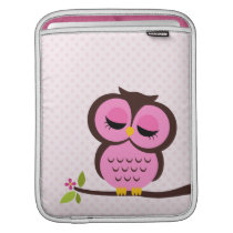 Pink Owl Sleeve For iPads