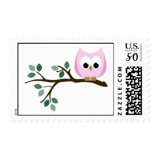 Pink Owl Stamps
