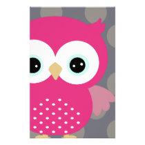 Pink Owl Stationery