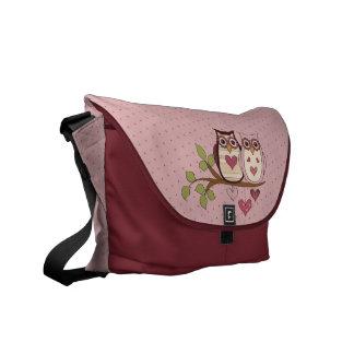 Pink Owl Sweethoots Messenger Bag