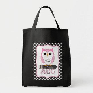 Pink Owl Teacher Bag
