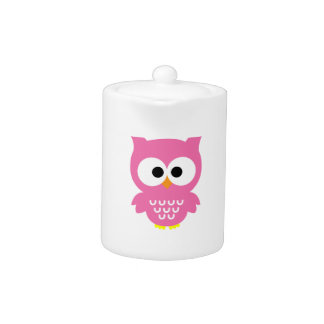Pink Owl Teapot