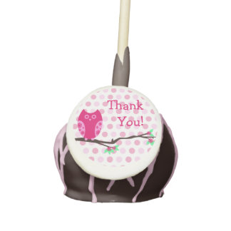 Pink Owl Thank You Cake Pops Cake Pops