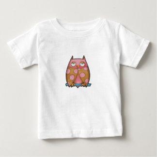 Pink Owl white Infant T-shirt