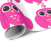 Pink Owl Wrapping Paper