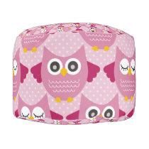 Pink Owls 2 Pouf