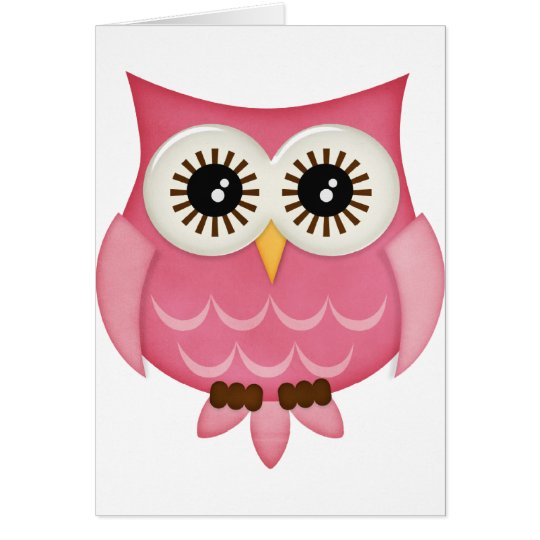 Pink Owls Card