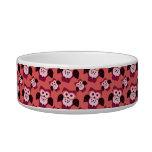 Pink owls pet water bowls