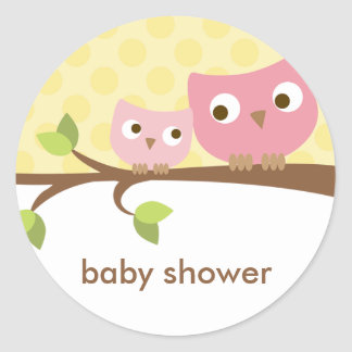 Pink Owls Stickers