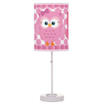 Pink Owls Table Lamp