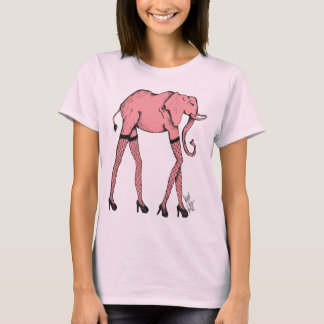 Pink Pachyderm in Hose Woman's Top
