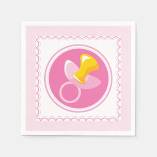 Pink Pacifier   Baby Girl Shower Paper Napkin