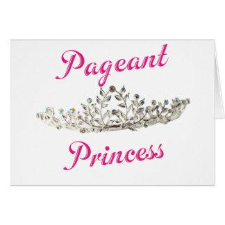 Pink Pageant Princess Card