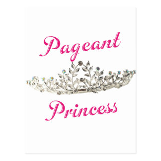 Pink Pageant Princess Postcard