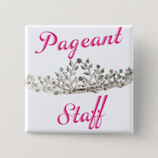 Pink Pageant Staff Pinback Button