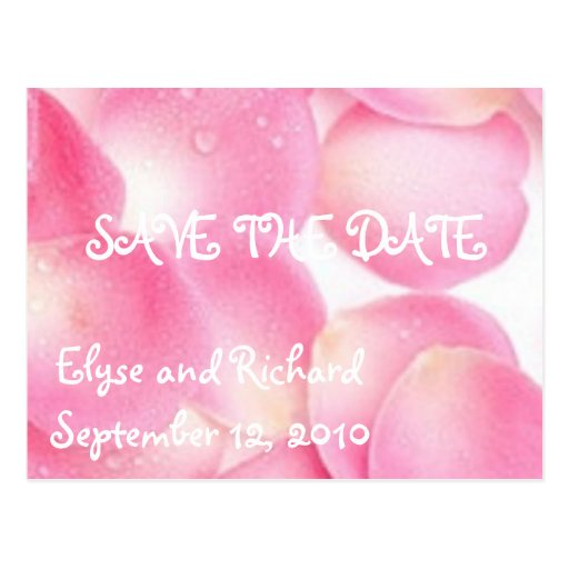 Pink Pageantry-Save the Date Postcard
