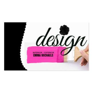Pink Paint Interior Design Business Card