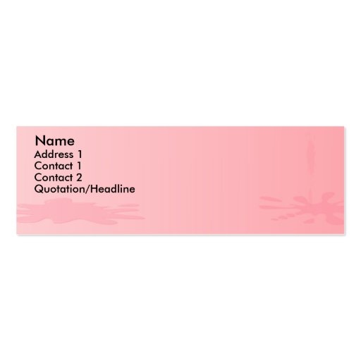 Pink paint splat mini business card zazzle for Mini business card