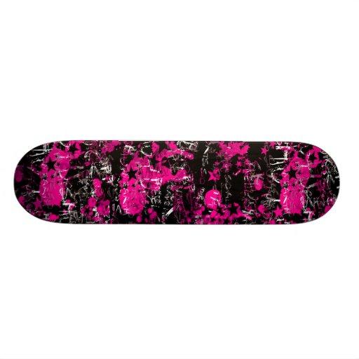 Pink Paint Splatter Skateboard