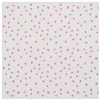 Pink Paint Spots Fabric