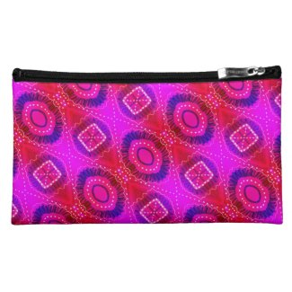 Pink Painted Gypsy Medallion - Quaraun CosPlay Cosmetic Bag