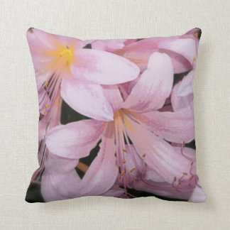Pink Painted Lily Throw Pillow