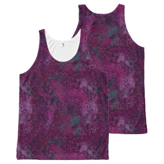 Pink Painterly Abstract All Over Print T-Shirt